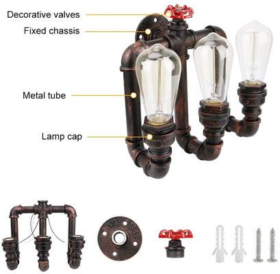 lampada #tubo #idraulico #industriale