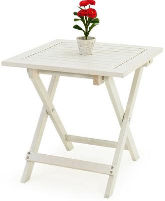 tavolino +legno +bianco +pieghevole +esterno +outdoor +giardino +terrazzo +vendita +online +sandroshop