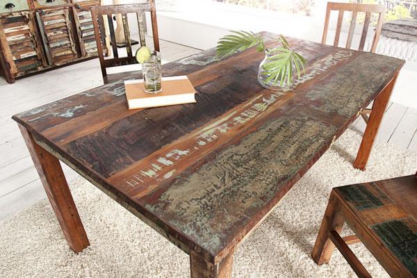 tavolo +legno riciclato +arredo +vintage +sandro shop +cucina +vendita +online +spedizione