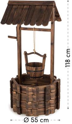 pozzo #legno #decorativo #legno #fioriera #giardino #vendita #online #sandro