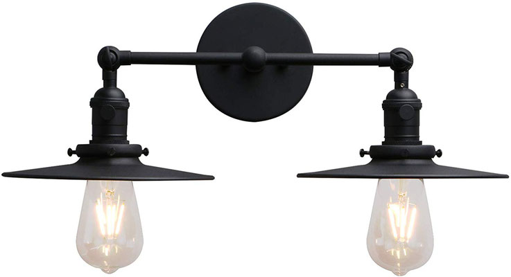 plafoniera #lampada #applique #muro #nera #vintage #industriale #doppia #lampadina