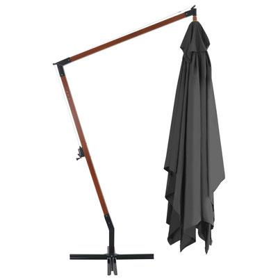 ombrellone #legno #braccio #sbalzo #laterale #grigio #4x3m