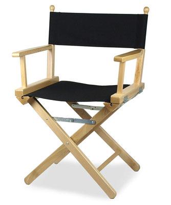 sedia regista #legno #nera