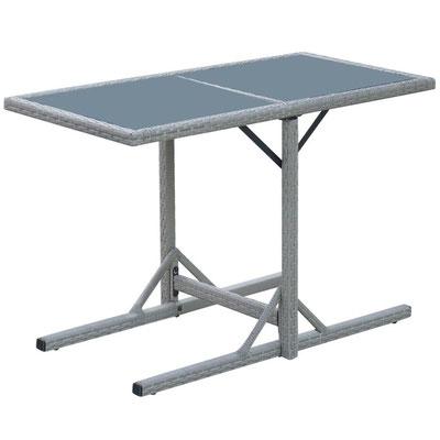 tavolino #giardino #esterni #arredo #polyrattan #grigio #2 #due #persone #posti