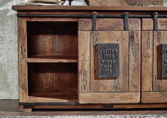 credenza #madia #industriale #legno #soggiorno #mango #stile #vintage