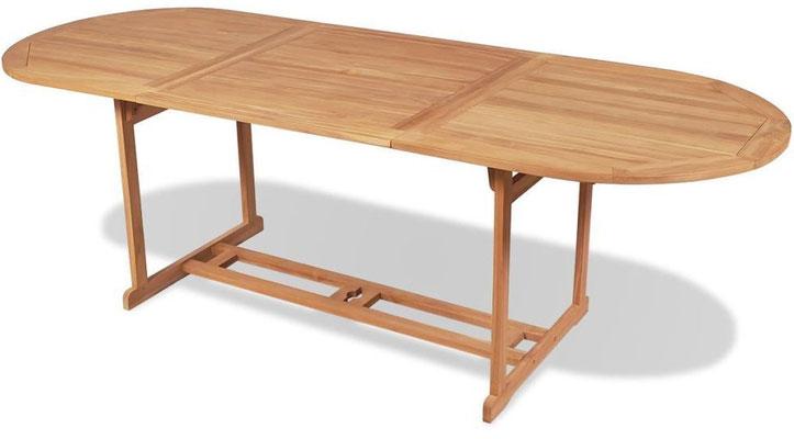 tavolo teak +arredo +giardino +180 cm. +set +pranzo +sandroshop