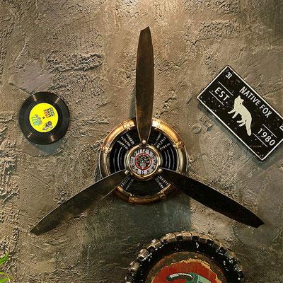 orologio #parete #elica #vintage #ramato