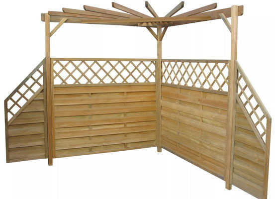 pergolato +pergola +legno +impregnato +frangi +vento +pannelli +angolare +sandro +vendita +online