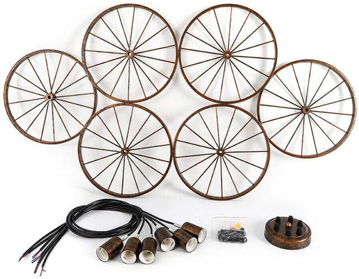 lampadario +vintage +bicicletta +soffitto +antico +sandro +shop +6 +luci +retò +industtriale +ruota