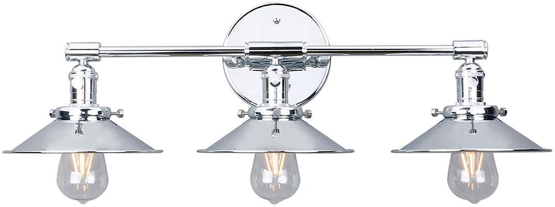 plafoniera #lampada #applique #muro #acciaio #cromato #vintage #industriale #3 lampadine