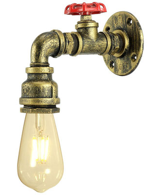 applique #lampada #parete #vintage #industriale #rubinetto
