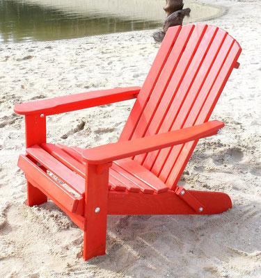 muskoka +adirondack +sedia sdraio +sandro shop +arredo + giardino +legno +acacia +outdoor +rossa