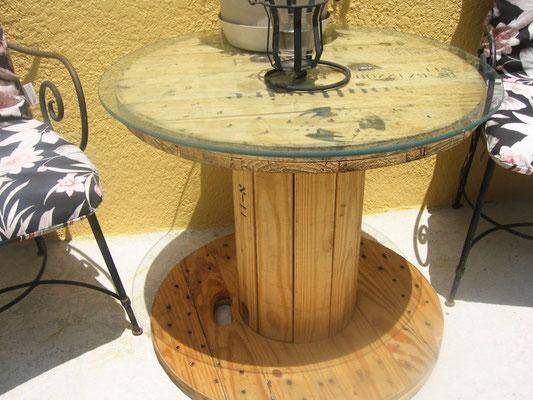 tavolo +esterno +riciclo +bobina legno +sandro +shop +online +shopping +vendita +pallet +arredo giardino