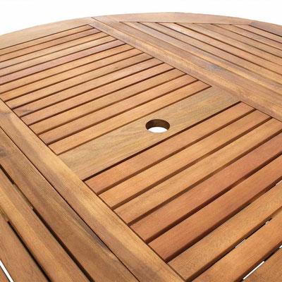 tavolo +giardino +acacia +outdoor +arredo +rotondo +pieghevole +sandro +shop