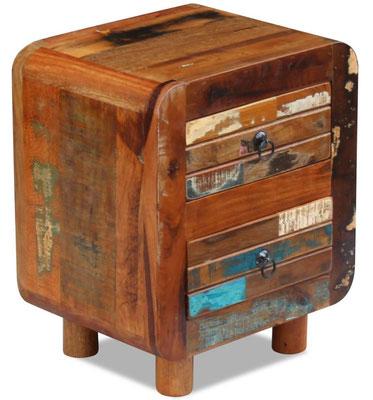 comodino +legno +riciclato +recupero +vintage +anticato +sandro shop +vendita +online