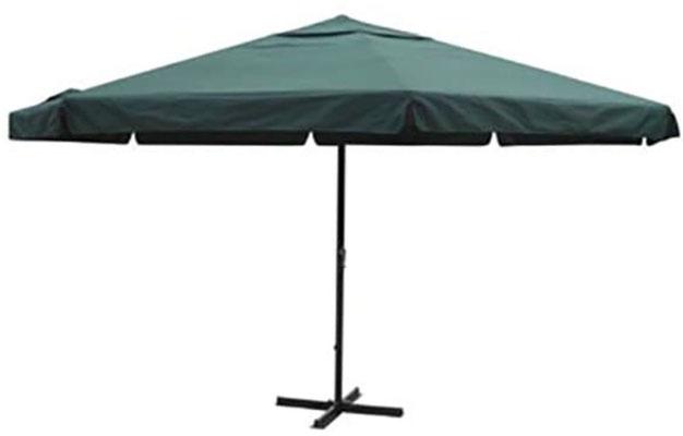 ombrellone +alluminio +manovella +5x5 +metri +base