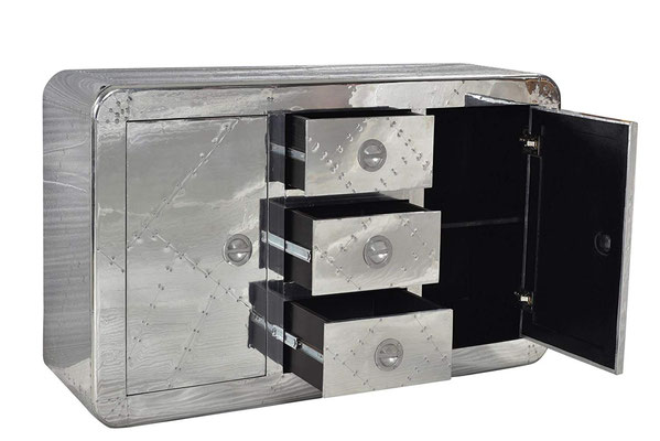 credenza #alluminio #MDF #industrial #AIRMAN #aviator