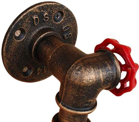 applique +vintage +retrò +industriale +parete +tubi +idraulici +sandroshop +vendita +online