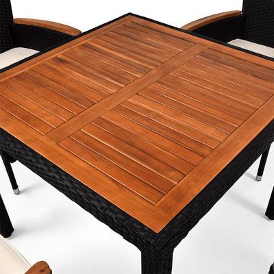 tavolo polyrattan acacia