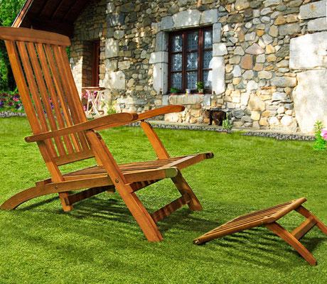 sedia +sdraio +prendisole +giardino +outdoor +garden +arredo +legno +acacia +sandro +shopping +online +shop