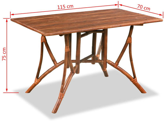 tavolo bambù +arredo +giardino +sala +pranzo