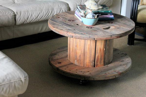 tavolo +riciclo +bobina +cavi +legno +arredo +sala +sandro +shop +online +shopping +flangia