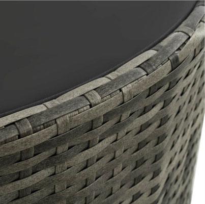 divano #semicircolare #circolare #polirattan #grigio #sandroshop
