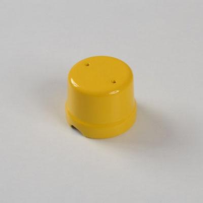 scatola derivazione #porcellana #giallo #colorata #FAI #boîte de jonction en céramique #Keramik-Anschlussdose #ceramic junction box
