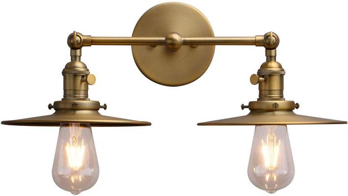 plafoniera #lampada #applique #muro #ottone #vintage #industriale