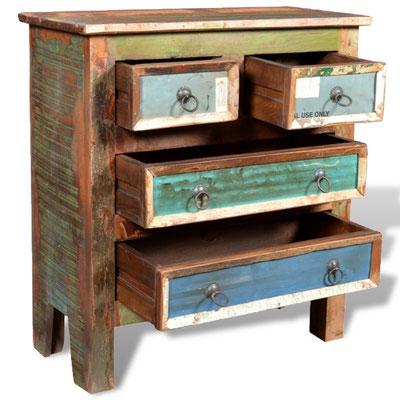 arredo etnico legno di riciclo vintage