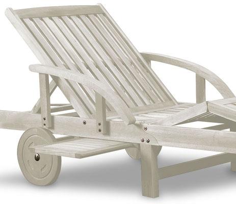 lettino prendisole +legno +bianco +mobili giardino +sandroshop