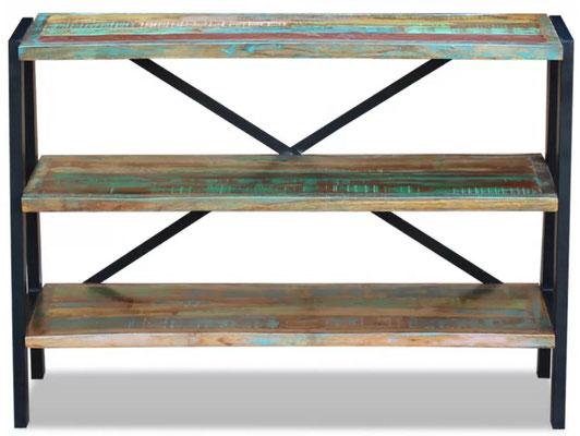 scaffale #industriale #style #vintage #legno #riciclato #recupero
