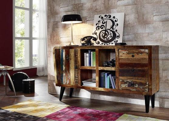 mobile +legno +riciclato +TV +porta +vintage +60 +sandro shop +vendita +online