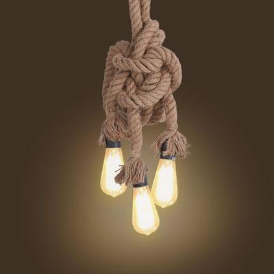 lampadario +pendente +soffitto +vintage +fune +canapa +corda +sandro shop +shopping +vendita +online +industriale +arredo