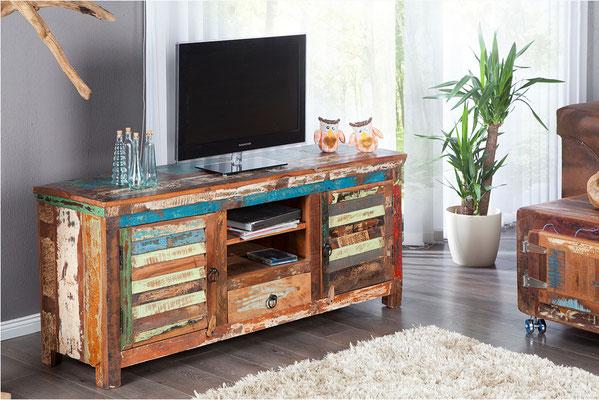 mobile TV legno riciclato +vintage +sandro shop