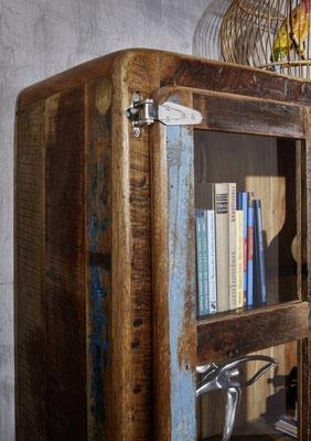 vetrina +mobile +legno +riciclato +vintage +frigo +sandro +shopping
