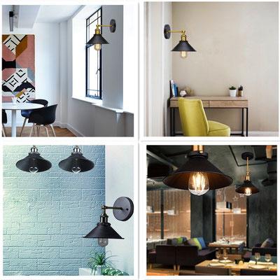 lampada a parete +vintage +industriale +ottone +sandroshop
