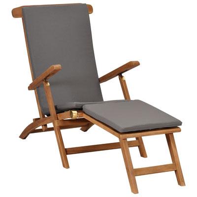 sedia #sdraio #prendisole #legno #teak #cuscino