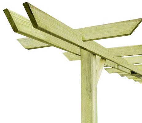 pergolato #legno #impregnato #autoclave