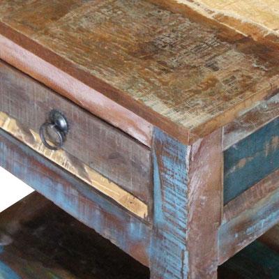 comodino +legno +recupero +riciclato +etnico +vintage