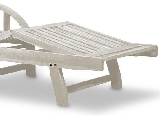 lettino sdraio +prendisole +legno +bianco +sandro shop