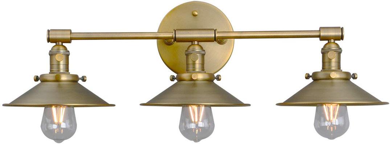 plafoniera #lampada #applique #muro #ottone #lucido #vintage #industriale #2 lampadine