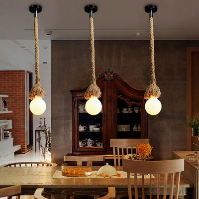 lampadario +lampada +soffitto +pendente +vintage +industrial +corda +fune +canapa +luce +arredo +sandro +shop +online +shopping +vendita