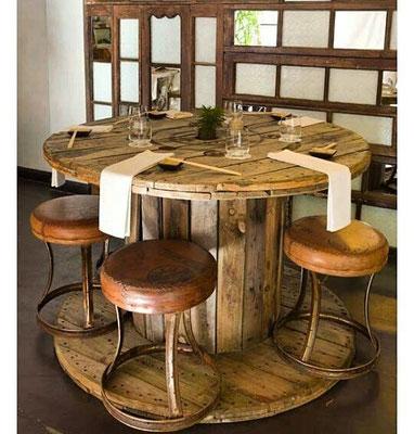 riciclo creativo +bobine +legno +cavi +shabby +chic +sandro +shop +shopping +online +flangia