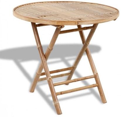 tavolo +bambù +bamboo +rotondo +pieghevole +arredo +esterni +sandro +shop +vendita +online
