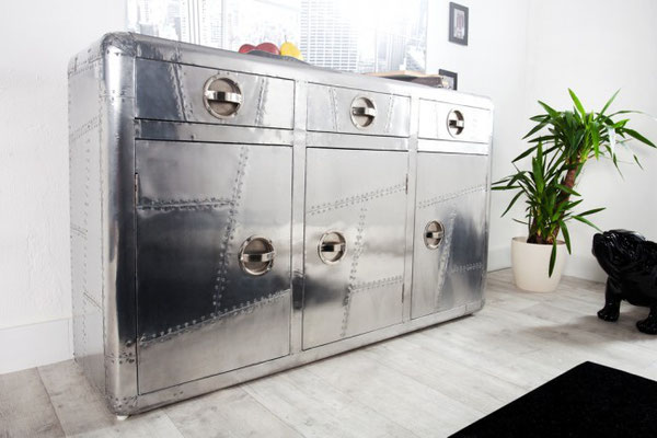 mobile credenza cassettiera vintage look industrial style stile