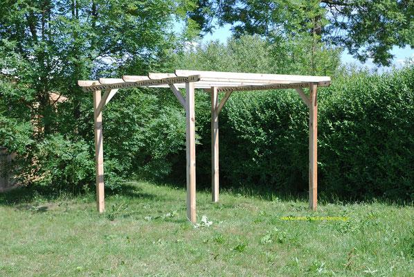 gazebo + legno +pergola +pompeiana +legno impregnato +3x3m +autoclave