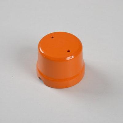 scatola derivazione #porcellana #arancio #colorata #FAI #boîte de jonction en céramique #Keramik-Anschlussdose #ceramic junction box