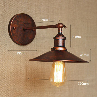 lampada a parete #vintage #industriale #ruggine #sandroshop #vetro