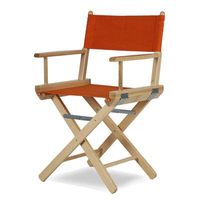 sedia regista #legno #arancione